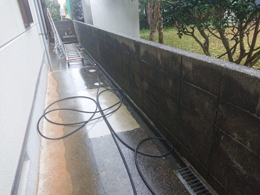 土間、ブロック塀洗浄