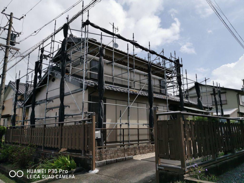 しっくい塗り替え、軒裏塗装工事!「お家の塗装・エクステリア・リフォーム・修繕のABeco-アベコ-」